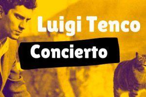Cartel concierto Luigi Tenco
